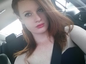amateur photo Redhead, blue eyes, and freckles.