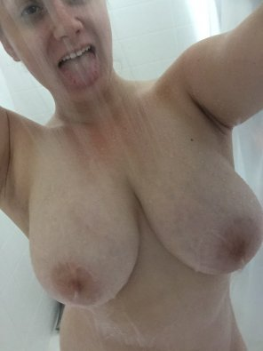 amateur photo Nothing like taking your bra off and getting in the shower after a good workout.