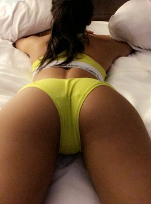 amateur photo Veronica Rodriguez wearing yellow CK