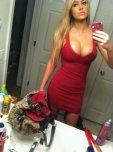 amateur photo Hot Red Dress