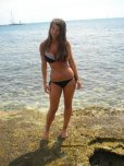 amateur photo Busty brunette bikini beach babe