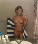 amateur photo Just a towel and a smile