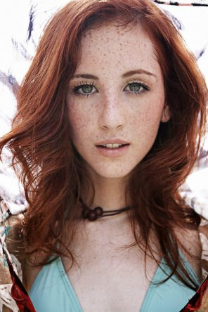 amateur photo Stunning ginger with freckles