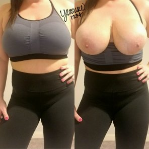amateur photo Sports bra titties