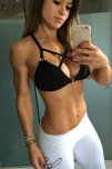 amateur photo Alice Matos gym selfie