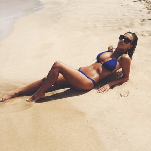 amateur photo Devin Brugman in blue
