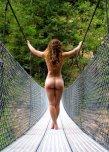 amateur photo Swing bridge