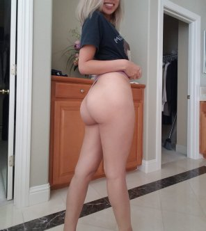 amateur photo My ass makes this thong basically invisible
