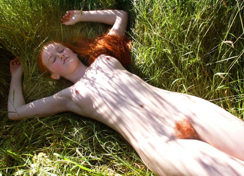 Natural in the grass Porn Photo