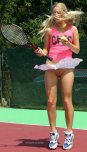 amateur photo Blonde tennis babe forgot to wear her panties