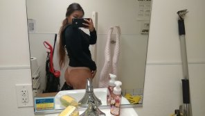 amateur photo A lil booty from the bathroom at work