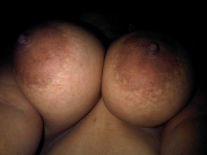 amateur photo Big, dark nipples
