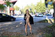 Flashing near a busy street