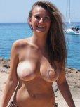 amateur photo Brunette at Beach