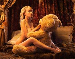 amateur photo She LOVES her teddy bear