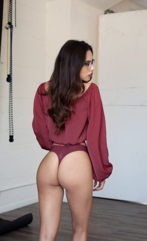 amateur photo Nerd in thong