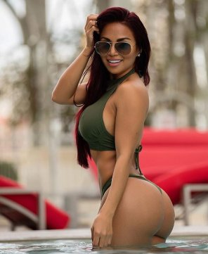 amateur photo Dolly Castro in the pool