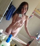 amateur photo Yet another cute girl with a dirty mirror