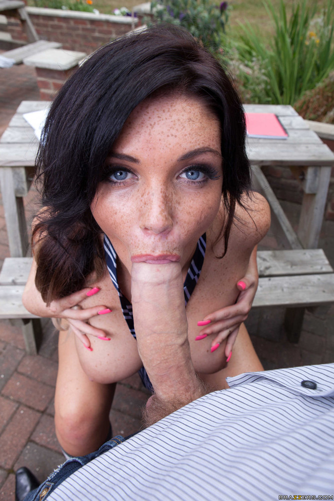 Pov Blue Eyes Brunette Blowjob
