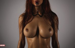 amateur photo Redhead and a whistle