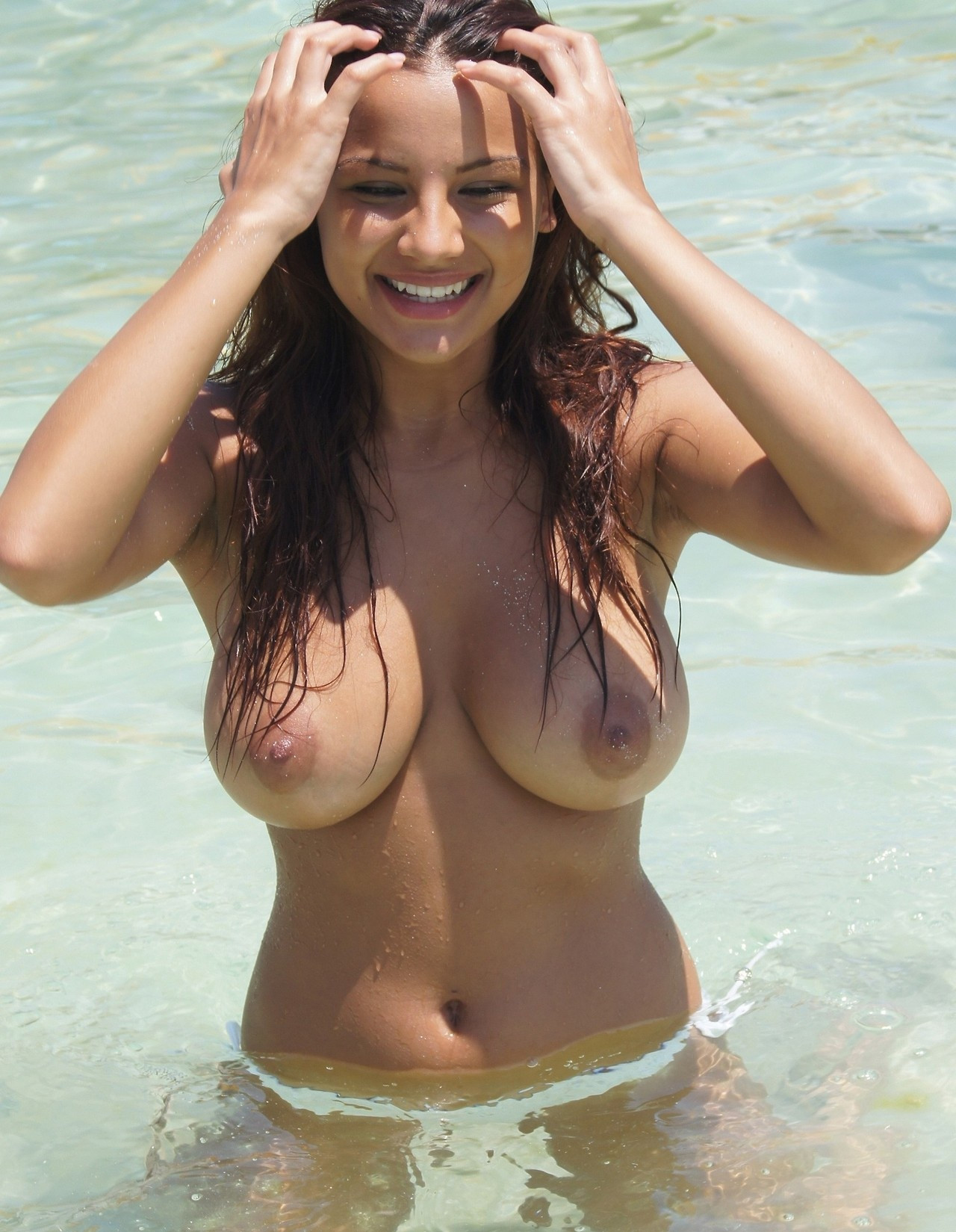 Busty indian womens nude at the beach