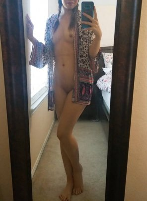 amateur photo Getting ready this morning. Do you like my outfit 😁?