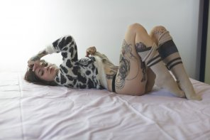 amateur photo Tatted beauty