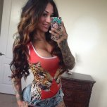 amateur photo Tattoed Latina