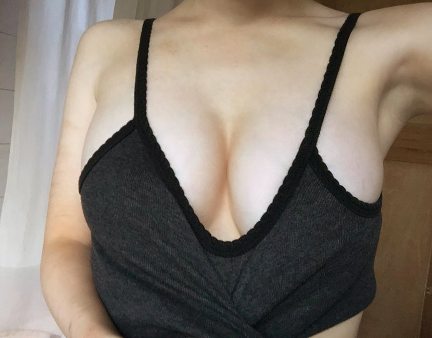 Creating the cleavage Porn Photo