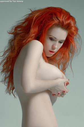 amateur photo Squeezing redhead