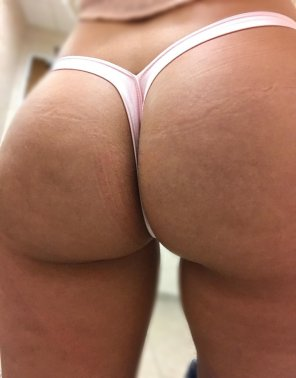 amateur photo [F] Thong of The Day!!! Today I have on a light pink V-back thong, enjoy!!!