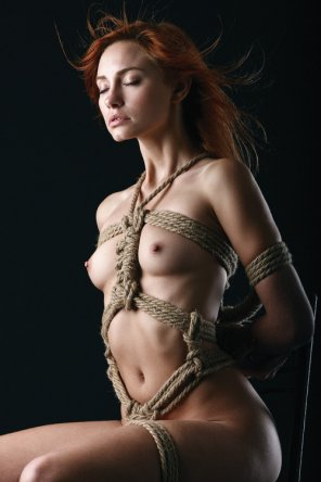 amateur photo Redhead in bondage