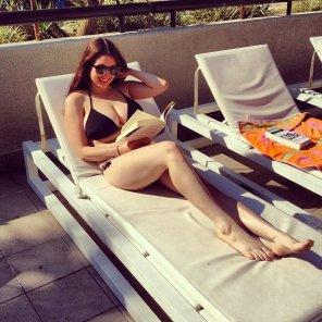 amateur photo Sunbathing