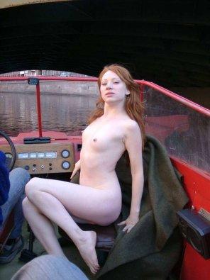 amateur photo floating on pleasure boat - Mila C