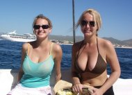 amateur photo The twins on a boat