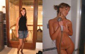 amateur photo Showering