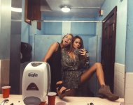 Two sluts, one bathroom
