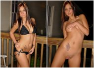 amateur photo Back Porch Bikini On/ Off