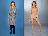 Model Monika Tempe dressed/undressed