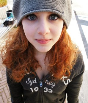 amateur photo Very cute redhead