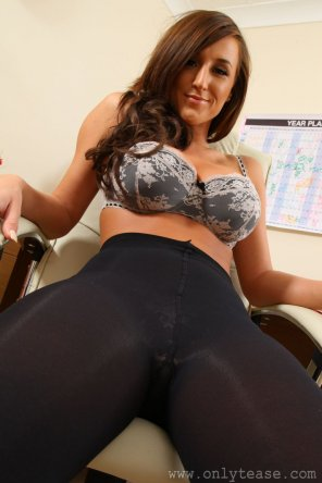 amateur photo Black pantyhose