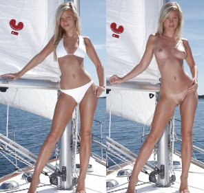 amateur photo On a yacht