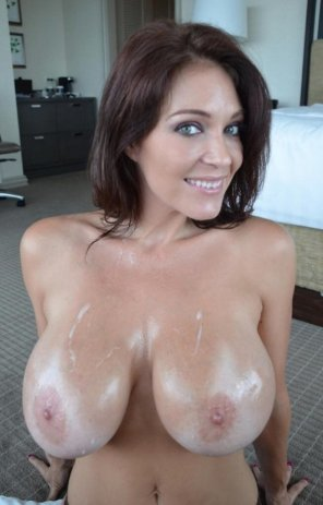 amateur photo Beautiful Cum-Covered Breasts
