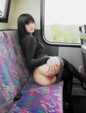 amateur photo Shameless girl on the bus