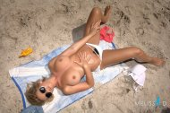 Melissa Debling at the beach