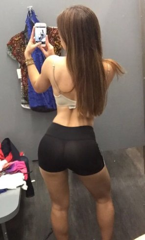 amateur photo Fitting room selfie