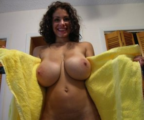 amateur photo Drying off