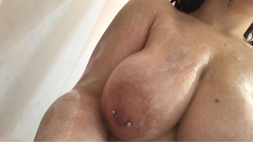 [Image] Pierced, wet, and soapy. Porn Photo