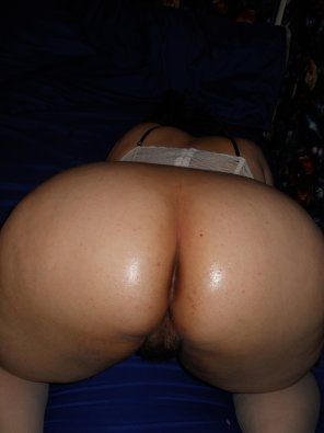 amateur photo My wife's big shiny ass