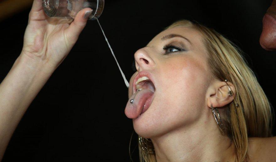 Drip onto tongue piercing Porn Photo